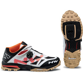 Northwave Enduro Mid Shoes Men, off white/orange